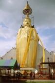 Thailand, Bangkok, Wat Indraram, Large statue of Buddha. - James Marshall