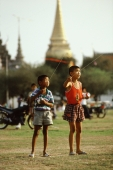 Thailand, Bangkok, Grand Palace, Sanam Luang Field, Family Kite Flying Day - James Marshall