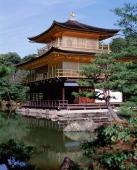 Japan, Kyoto, The Golden Pavilion at Kinkaku-ji Temple. - Stuart Woods