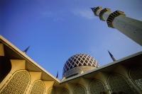 Malaysia, Selangor, Shah Alam, Sultan Salahuddin Abdul Aziz Shah Mosque. - Steve Raymer