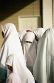 Malaysia, Kuala Lumpur, Schoolgirls visiting National Islamic Center. - Steve Raymer