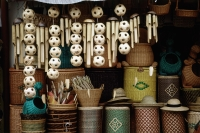 Singapore, an Arab Street basket and rattanware emporium displays its wares. - Steve Raymer