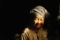 Cambodia, an elderly Cham Muslim woman, portrait. - Steve Raymer