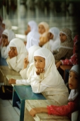 Indonesia, Aceh, Across Muslim Southeast Asia, parents have turned to Islamic schools like this one in the rebellious province of Aceh to inoculate their children against Western values. - Steve Raymer