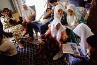 Malaysia, Kota Bharu, a Muslim family passes the Hari Raya Adilfitri holiday. - Steve Raymer