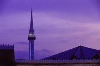 Malaysia, Sarawak, Minaret of mosque. - Steve Raymer