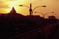Malaysia, Malacca, Sunset over the city. - Steve Raymer