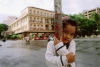 Vietnam, Ho Chi Minh City, girl at Lam Son Square. - Steve Raymer