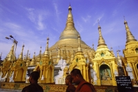 Myanmar (Burma), Yangon (Rangoon), Monks in front of Shwedagon Pagoda. - Steve Raymer