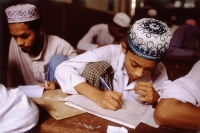 Myanmar (Burma), Yangon (Rangoon), Muslim students studying in school. - Steve Raymer