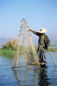 Myanmar (Burma), Inle Lake, Fisherman on Inle Lake - John McDermott