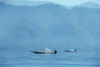 Myanmar (Burma), Fishing boats on Inle Lake - John McDermott