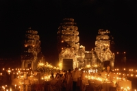 Cambodia, Siem Reap, Dinner party at Preah Khan temple ruins - John McDermott