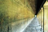 Cambodia, Siem Reap, Long hallway in Angkor - John McDermott