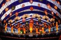 Singapore, Suzhou lanterns on display at Chinese Gardens during Mooncake Festival. - Jack Hollingsworth