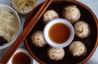 China, Shanghai, Chinese pork dumplings. - Jack Hollingsworth
