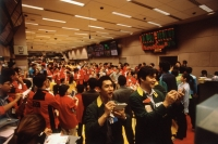 Singapore, Traders on the Exchange Trading Floor of the Singapore Stock Exchange. - Steve Raymer