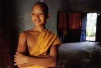 Vietnam, Mekong Delta region, Chau Duc, Buddhist monk of Khmer origin. - Steve Raymer