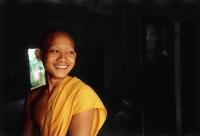 Vietnam, Mekong Delta region, Chau Duc, Buddhist monk of Khmer origin, portrait. - Steve Raymer