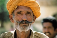 India, Rajasthan, Pushkar, Indian man, portrait - Jill Gocher