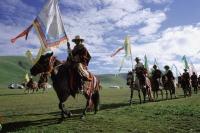 China, Szechuan (Sichuan), Kham region, Summer nomad festival opening ceremony. - Jill Gocher