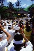 Indonesia, Bali, Mass prayer at Gunung Kawi Temple. - Jill Gocher