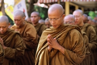 Indonesia, Java Buddhist monks at Vesak ceremony - Jill Gocher
