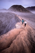Indonesia, Java, Mt. Bromo, Sunrise on the rim, observers watching. - Jill Gocher