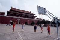 China, Beijing, basketball court next to Forbidden City - Alex Mares-Manton