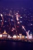 China, Shanghai, aerial view of the Bund - Alex Mares-Manton