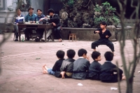 Vietnam, Hanoi, young boys practicing martial arts - Alex Mares-Manton