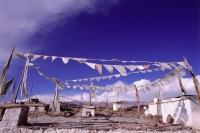 India, Ladakh, Prayer flags. - Mary Grace Long