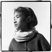 India, Ladakh, Portrait of young girl, profile. - Mary Grace Long