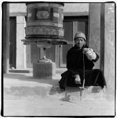 India, Ladakh, Leh, Portrait of Tibetan man. - Mary Grace Long