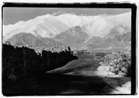India, Ladakh, Leh, Road and mountain vista. - Mary Grace Long
