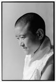 India, near Dharamsala, Dolma Ling Nunnery, Portrait of Tibetan nun. - Mary Grace Long