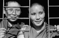 India, near Dharamsala, Dolma Ling Nunnery, Portrait of Tibetan nuns. - Mary Grace Long