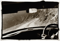 India, Northern India, Srinagar-Leh Road, from car interior. - Mary Grace Long