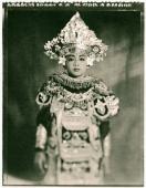 Indonesia, Bali, Amlapura, Baris dancer in full costume. - Martin Westlake