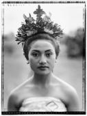 Indonesia, Bali, Ubud, Pendet dancer waiting to perform. - Martin Westlake