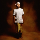 Indonesia, Bali, Ubud, Young Balinese man in temple dress. - Martin Westlake