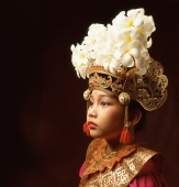 Indonesia, Bali, Ubud, Legong dancer in full costume. - Martin Westlake
