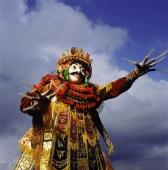Indonesia, Bali, Ubud, Mask (Topeng) dancer performing. - Martin Westlake