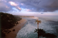 Indonesia, Bali, Pecatu, Surf beach at dawn. (grainy) - Martin Westlake