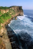 Indonesia, Bali, Uluwatu, View of cliffs and temple. (grainy) - Martin Westlake