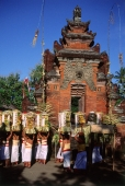 Indonesia, Bali, Sanur, Women carrying offerings at temple ceremony. (grainy) - Martin Westlake
