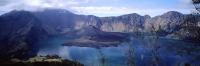 Indonesia, Lombok, Mount Rinjani, View across caldera into crater lake Segara Anak. (grainy) - Martin Westlake