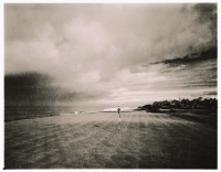Indonesia, Bali, Tanah Lot, 13th green towards Indian Ocean Nirwana Bali Golf Club. ( artistic grain) - Martin Westlake