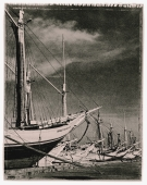 Indonesia, Jakarta, Pinisi schooners at Sunda Kelapa port. (artistic grain) - Martin Westlake