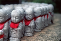 Japan, Tokyo, Japanese Buddha icons in a row - Alex Microstock02